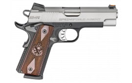 """Springfield Armory PI9211L 1911 Single 9mm 4"""" 10+1 Cocobolo Grip Stainless Steel"""