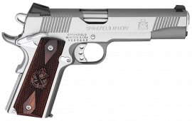 """Springfield Armory PX9151LCA 1911 Single 45 ACP 5"""" 7+1 Cocobolo Grip Stainless Steel"""