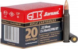 Barnaul REMFMJBT55 .223/5.56, 55 GR, FMJBT - 20rd Box