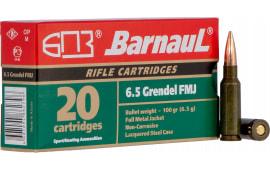 Barnaul 65GRNDLFMJ100 6.5 Grendel 100 FMJ 500rd - 500rd Case