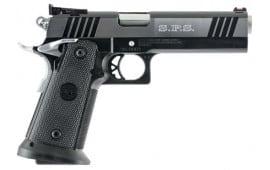 "SPS SPP40BC Pantera SAO 40 S&W 5"" 16+1 Black Poly Grip Black Frame Black/Chrome Slide"