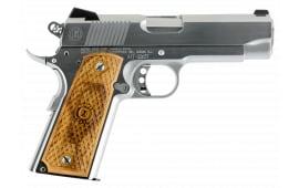 "American Classic ACC9C 1911 Classic II SA 9mm 4.25"" 9+1 Hardwood w/MAC Logo Grip Hard Chrome"