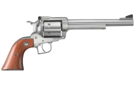 "Ruger 0804 Super Blackhawk Standard Single .44 7.5"" 6 Hardwood Stainless Revolver"
