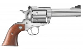 "Ruger 0814 Super Blackhawk Standard Single .44 4.6"" 6 Hardwood Stainless Revolver"