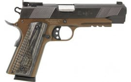 "Iver Johnson Arms GIJ44 Johnson 1911A1 Eagle LR 5"" Bronze Black Wood"