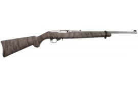 """Ruger 1286 10/22 Carbine Semi-Auto 22 Long Rifle 18.5"""" 10+1 Synthetic Natural Gear Camo Stock Stainless Steel"""