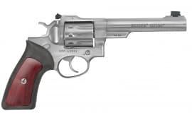 "Ruger 1757 GP100 22 LR DA/SA 22 Long Rifle 5.5"" 10 Hardwood Stainless Revolver"