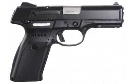 """Ruger 3321 SR9B Standard DAO 9mm 4.1"""" 17+1 Black Poly Grip/Frame Black Nitride Slide"""