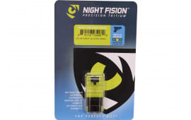 Night Fision SAW202003YGZ Night Sight Set Square S&W M&P Shield Green Tritium w/Yellow Outline Black