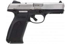 """Ruger 3470 KSR40 Standard 40 S&W 4.1"""" 15+1 Black Poly Grip/Frame Brushed SS Slide"""