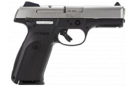 "Rug 3472 KSR4010L Standard 40 S&W 4.1"" 10+1 Black Polymer Grip Stainless"