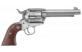 """Ruger 5104 Vaquero Standard Single .45 LC 5.5"""" 6 Rosewood Stainless Revolver"""