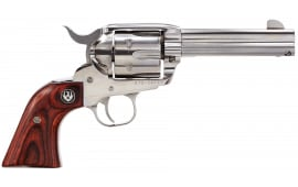 """Ruger 5109 Vaquero Standard Single .357 4.6"""" 6 Rosewood Stainless Revolver"""