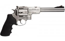 "Ruger 5501 Super Redhawk Standard DA/SA .44 7.5"" 6 Hogue Tamer Monogrip Black Stainless Revolver"