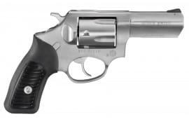 "Ruger 5719 SP101 DA/SA .357 3.1"" 5 Black Rubber Stainless Revolver"