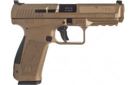 "Century Arms Canik TP9SA MOD.2 Semi-Automatic Pistol 4.46"" Barrel 9mm 2-18rd Mags - W / Warren Sights - FDE Polymer - HG4863D-N"
