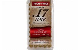Norma 297040050 17HMR Vmax 17 GR - 50rd Box