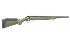 "Ruger 8336 American Rimfire Standard Bolt 17 HMR 18"" TB 9+1 Synthetic OD Green Stock Blued"