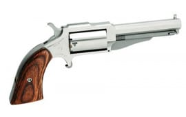 "NAA 18603 1860 The Earl 3"" Single .22 . Magnum 3"" 5 Wood Stainless Revolver"