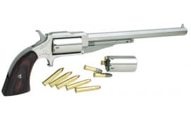 "NAA 18606C 1860 Hogleg 6"" with 22 LR Cylinder Single .22 . Magnum 6"" 5 Wood Stainless Revolver"