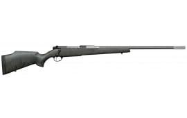 """Weatherby MARM653WR6O Mark V Accumark RC Bolt 6.5-300 Weatherby Magnum 26"""" 3+1 Synthetic Gray w/Black Spiderweb Stk"""