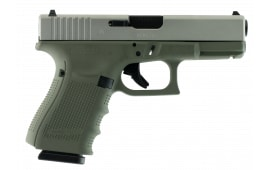 "Glock G19 Double 9mm 4.01"" 15+1 Desert Tan Interchangeable Backstrap Grip Desert Tan Cerakote"