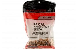 Winchester Ammo WB45MC230 Centerfire Handgun 45 Caliber .451 230 GR Full Metal Jacket 100 Box