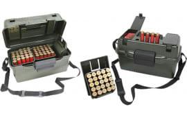 """MTM SH1001209 Shotgun Hnter Box 100rd 12GA 3.5"""" Green Wild Camo Polyproplene"""