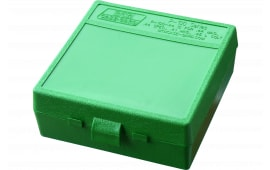 "MTM P1004410 P-100 Flip-Top Pistol Ammo Box 1.85"" OAL Green Poly"