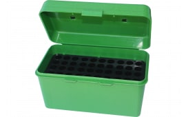 MTM H50RM10 H-50 50rd Med Rifle Ammo Box w Handle Poly Green