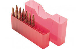 MTM J20L29 20rd Slip-Top Lg Rifle Ammo Box Red Poly