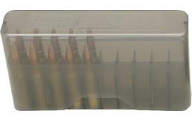 "MTM J20L41 20rd Slip-Top Lg Rifle 3.36"" OAL Ammo Box Poly Clear Smoke"