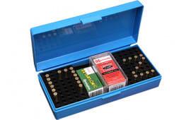 MTM SB20020 22/17 Rifle Cartridge Box Poly Blue w/Handle