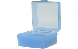 MTM RM10024 R-100 Rifle Ammo Box Med Cal 243/308 100rd Poly Clear Blue