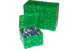 MTM CAST116 Cast Bullet Box 2pk 200/9mm Capacity Poly Clear Green