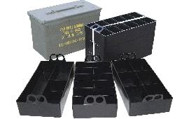 MTM ACO Ammo Can Organizer 3 Plastic Trays Black