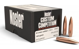Nosler 26725 Custom Competition Hollow Point 6.5mm .264 140 GR 100 Per Box