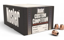 Nosler 44847 Custom Competition Hollow Point 45 Caliber .451 185 GR 250 Per Box