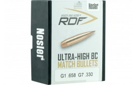 Nosler 49824 RDF Match 6.5mm .264 140 GR Hollow Point Boat Tail 100 Box