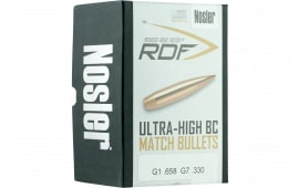 Nosler 49825 RDF Match 6.5mm .264 140 GR Hollow Point Boat Tail 500 Box