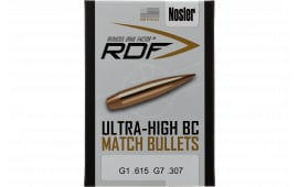 Nosler 54722 RDF Match 6.5mm .264 130 GR Hollow Point Boat Tail 500 Box