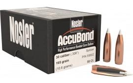 Nosler 55602 AccuBond .308 165 GR 30 Caliber