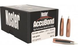 Nosler 57873 AccuBond .264 140 GR 6.5mm 50 Per Box