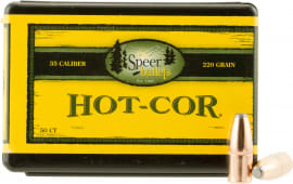 Speer 2439 Hot-Cor Rifle 35 Caliber .358 220 GR Soft Point Flat Nose 50 Box