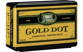 Speer 4002 Handgun 9mm .355 147 GR Gold Dot Hollow Point 100 Box