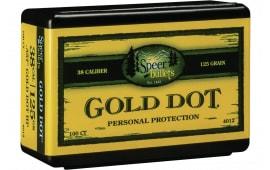 Speer 4012 Handgun 38 Caliber .357 125 GR Gold Dot Hollow Point 100 Box