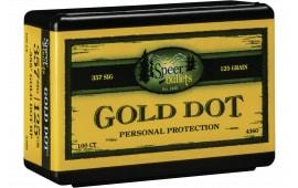 Speer 4360 Handgun 357 Sig .357 125 GR Gold Dot Hollow Point 100 Box