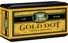 Speer 4427 Handgun 44 Caliber .429 200 GR Gold Dot Hollow Point 50 Box