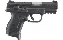 "Ruger 8633 American Double 9mm 3.5"" 10+1 Black Grip Black Nitride Stainless Steel"