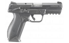 "Ruger 8638 American DA/SA 9mm 4.2"" 10+1 Black Polymer Wraparound Grip Black Stainless Steel"